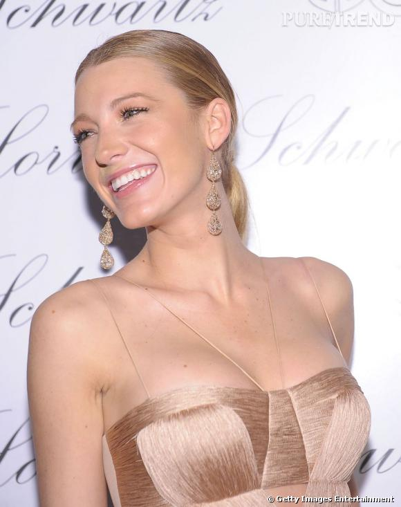 Totale harmonie rose nude pour Blake Lively.