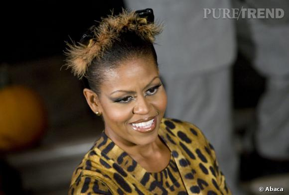 Le flop beauty look  : bien trop maquillée, Michelle Obama est presque vulgaire.