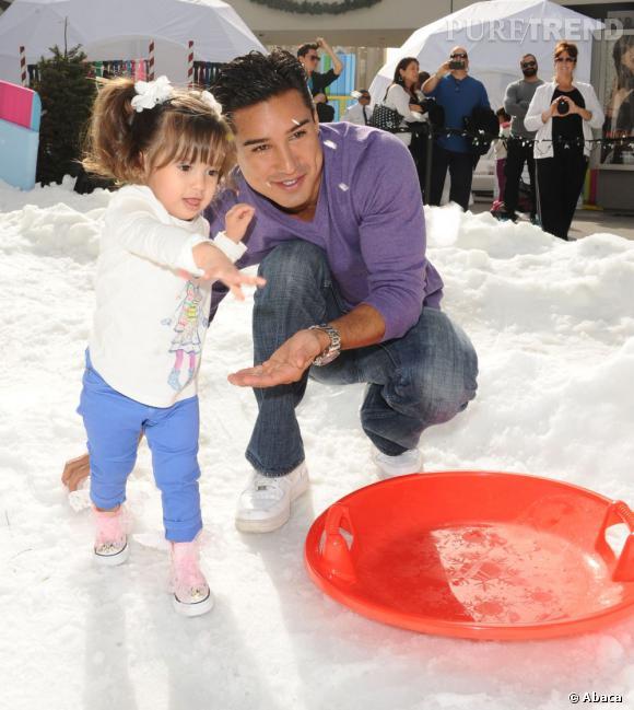 Mario Lopez et sa fille Gia.