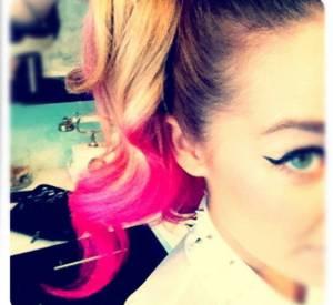 Lauren Conrad et sa queue de cheval rose.