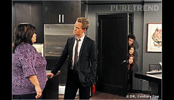"""""""How I Met Your Mother"""" : Ellen D. WIlliams dans la saison 8 avec Neil Patrick Harris."""