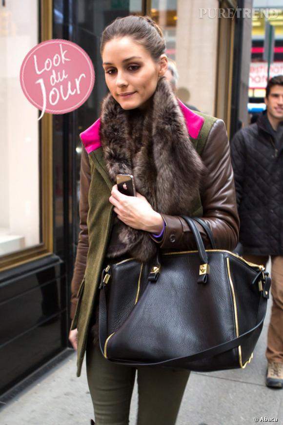 Olivia Palermo, coup d'éclat en tenue de chasse couture à New York.