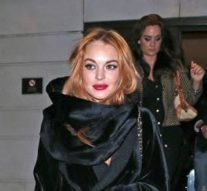 Lindsay Lohan : le look too much en noir