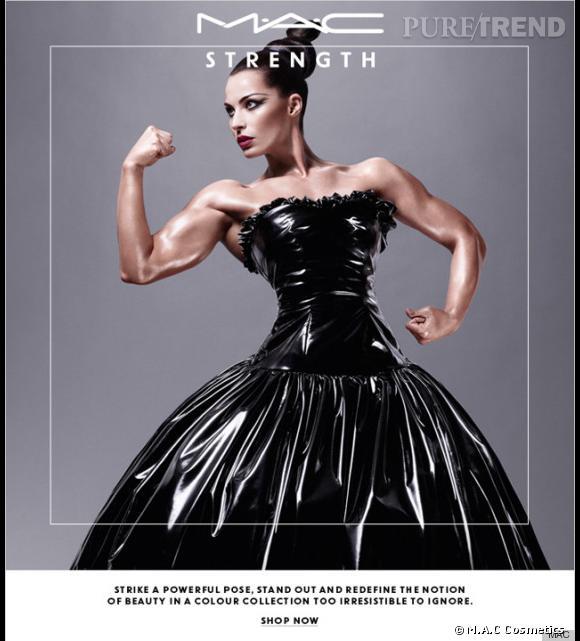 La nouvelle collection Strength de M.A.C., avec la bodybuildeuse Jelena Abbou.
