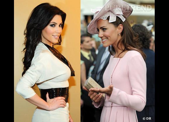Kim Kardashian et Kate Middleton dans la course au bébé.