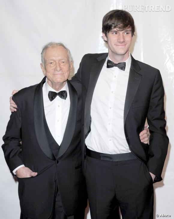 Hugh Hefner et Cooper Hefner, son héritier et supposé successeur à la tête de Playboy.