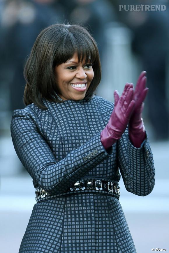 Que cache la frange de Michelle Obama ?