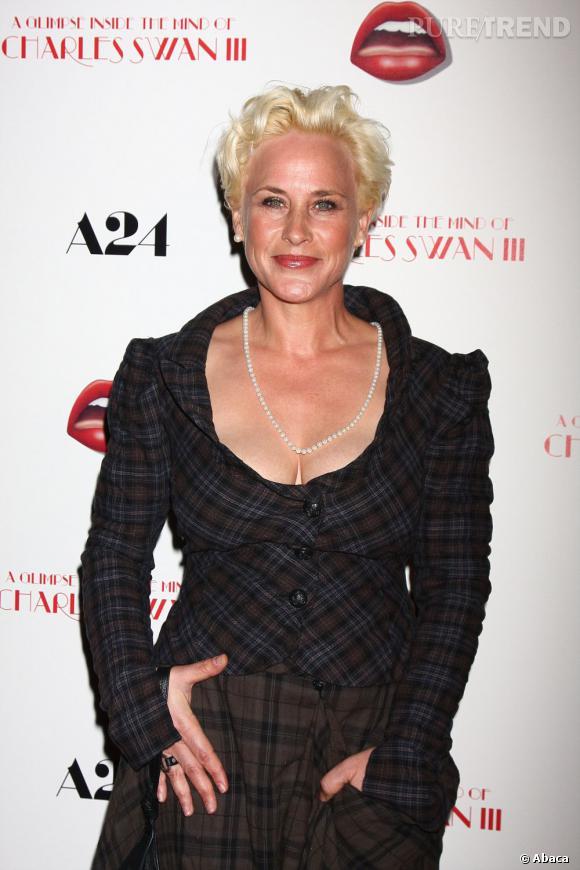"""Patricia Arquette, drame sur tapis rouge lors de la première de """"A Glimpse Inside the Mind of Charles Swan III"""" à Los Angeles le 4 février 2013."""
