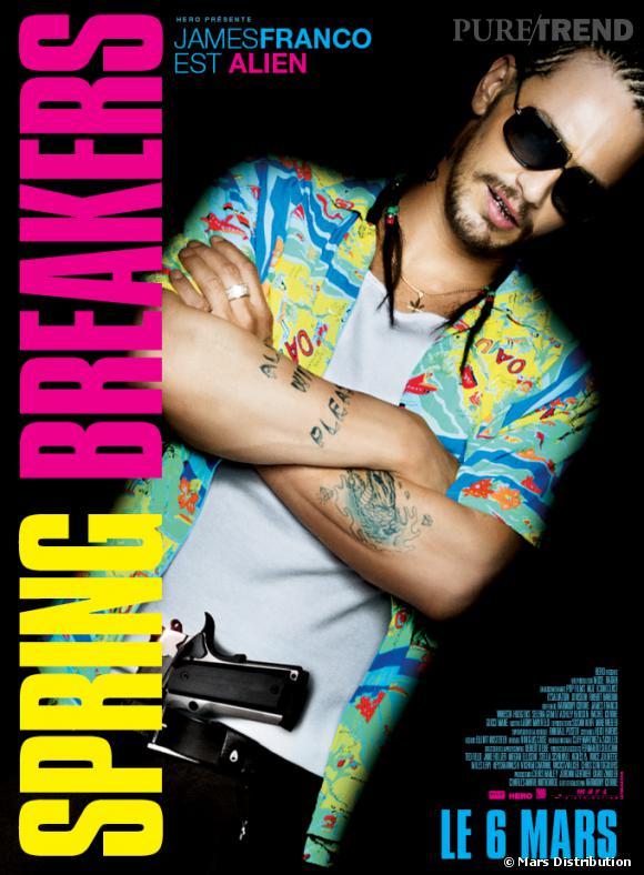 """James Franco : son affiche pour """"Spring Breakers""""."""