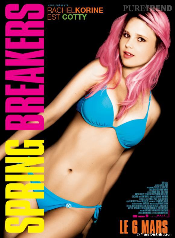"Rachel Korine : son affiche pour ""Spring Breakers""."