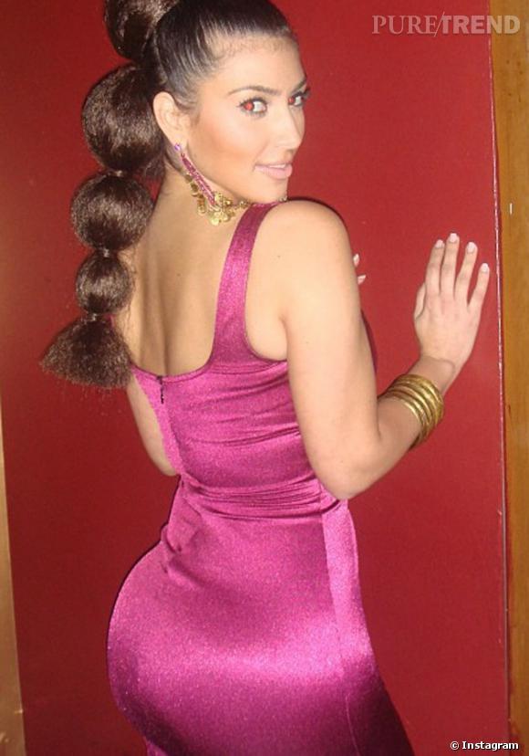 Kim Kardashian a copié la queue de cheval d'Olivia Wilde.