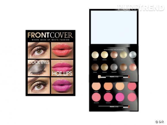 """Tendance : La beauté en kit    Kit """"Cool eyes Hot lips"""" de Front Cover, en exclusivité chez Sephora, 18 €"""