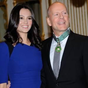 Bruce Willis a été fait commandeur dans l'ordre des Arts et Lettres lundi 11 février à Paris.