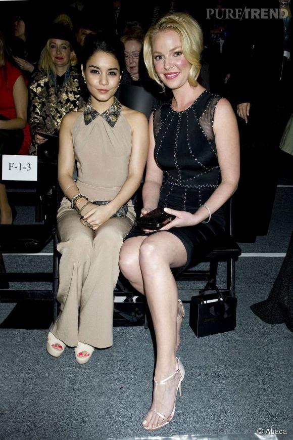 Vanessa Hudgenset Katherine Heigl au défilé Jenny Packham.