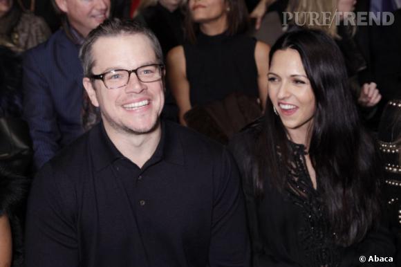 Matt Damon et Luciana Barroso au défilé Naeem Khan.
