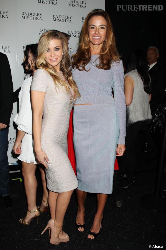 Carmen Electra et Kelly Bensimon chez Badgley Mischka.