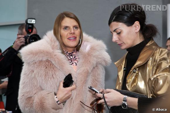 Anna Dello Russo et Giovanna Battaglia chez Reed Krakoff.