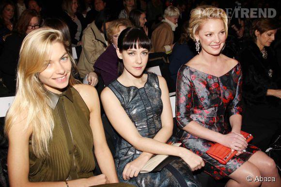 Jessica Hart, Jena Malone et Katherine Heigl au front row J. Mendel.