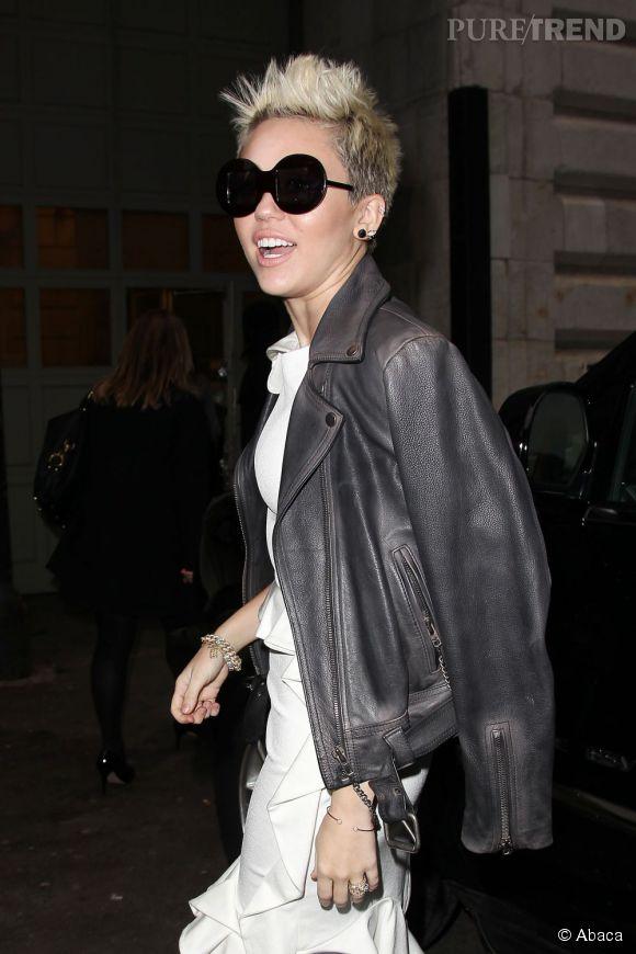 Miley Cyrus au show Marchesa.