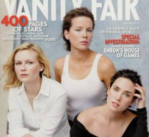 Kirsten Dunst, Kate Beckinsale et Jennifer Connelly en couverture du Vainty Fair Hollywood Issue 2002.