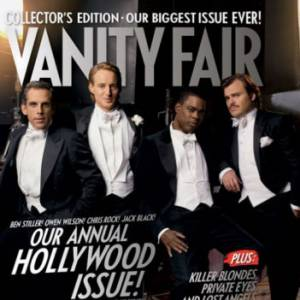 Ben Stiller, Owen Wilson, Chris Rock, et Jack Black en couverture du Vanity Fair Hollywood Issue 2007.