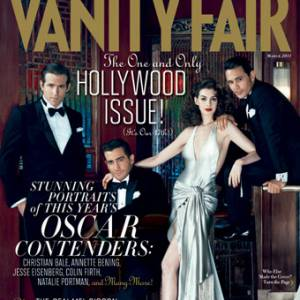Ryan Reynolds, Jake Gyllenhaal, Anne Hathaway, James Franco en couverture du Vanity Fair Hollywood Issue 2011.