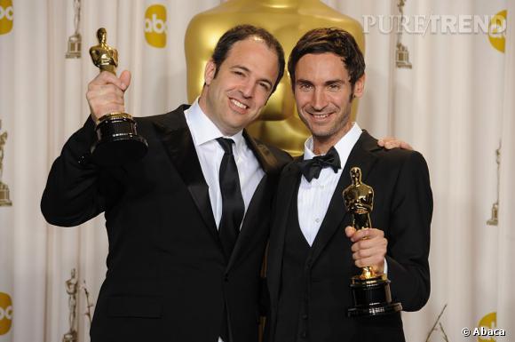 """Malik Bendjelloul et Simon Chinn meilleur documentaire pour """"Sugar Man""""."""