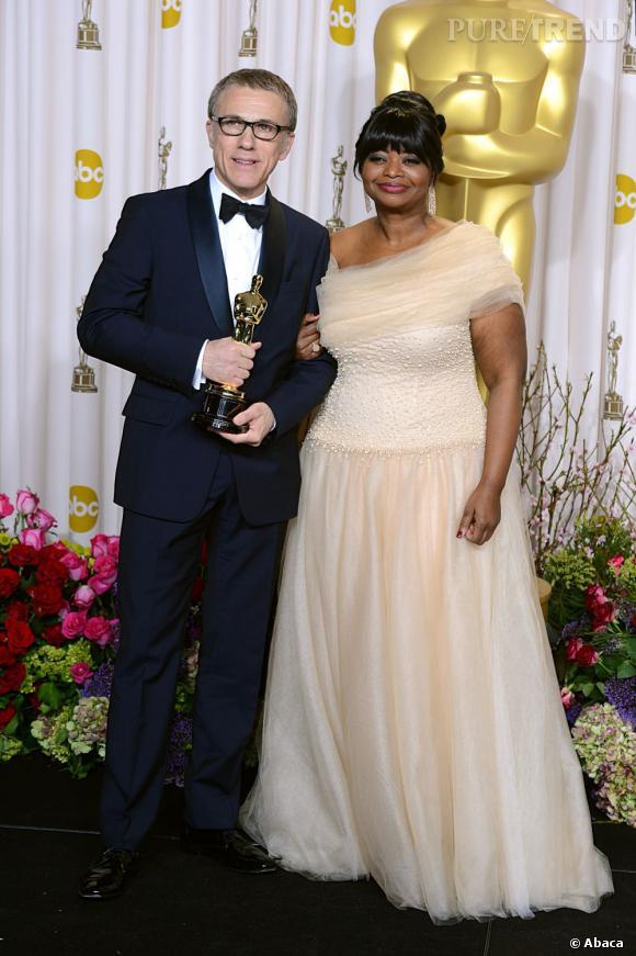 """Christoph Waltz remporte l'Oscar du meilleur acteur dans un second rôle pour """"Django Unchained""""."""