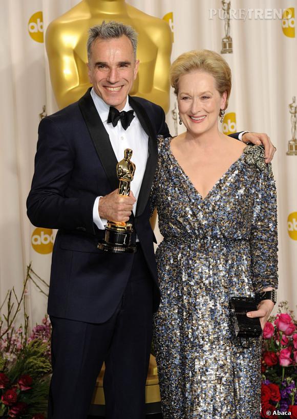 """Daniel Day-Lewis remporte l'Oscar du meilleur acteur pour """"Lincoln""""."""