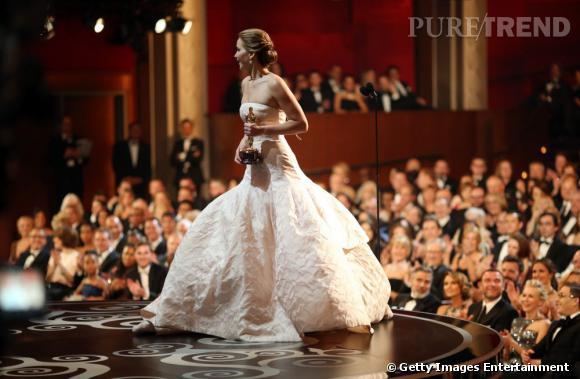 Jennifer Lawrence, meilleure actrice et princesse de la soirée de Dior Couture.
