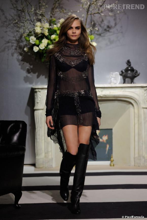 Cara Delevingne au défilé H&M .