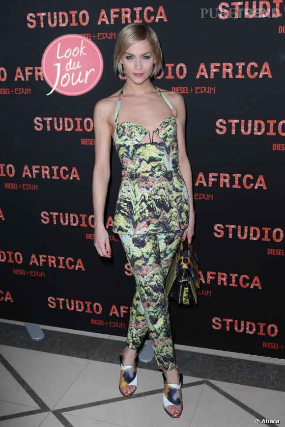 Leigh Lezark lors de la soirée Diesel Studio Africa à Paris.