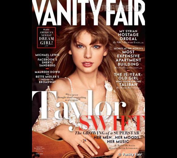 Taylor Swift fait la couverture de Vanity Fair pour le mois d'avril 2013.