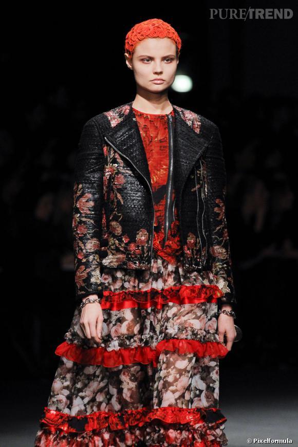 La coiffe colorée     Défilé Givenchy Automne-Hiver 2013/2014.