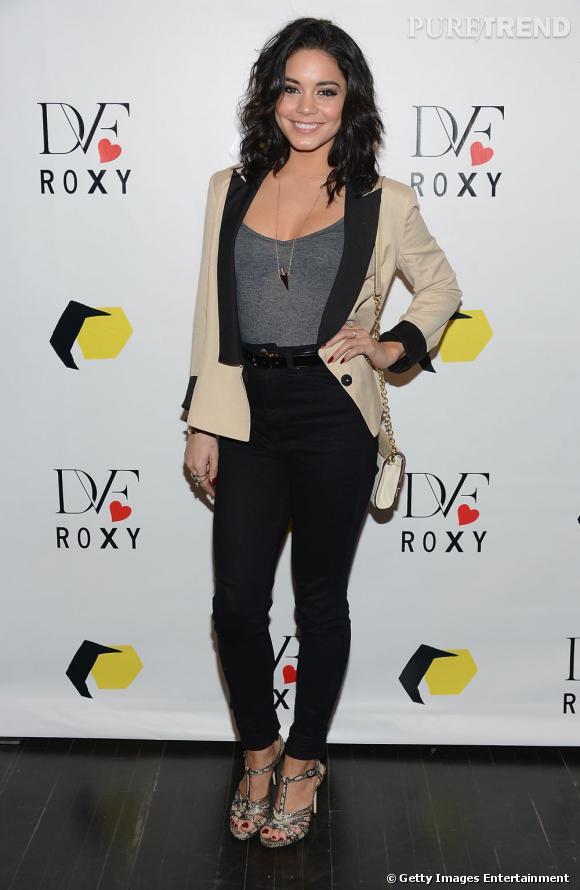 Vanessa Hudgens lors de la soirée Diane Von Furstenberg loves Roxy à New York.