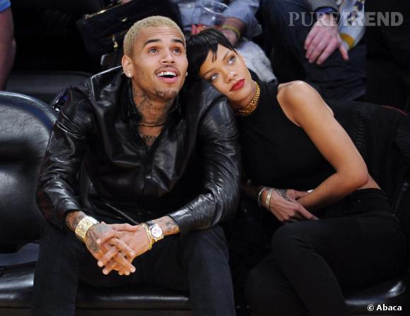 Rihanna et Chris Brown lors d'un match de basket. Les deux stars profiteront-ils de cette pause bien méritée pour se rapprocher ?