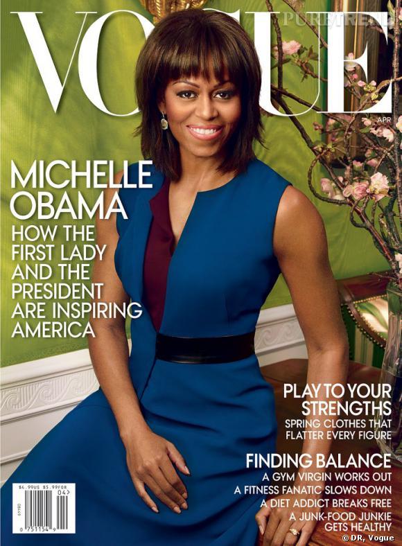Michelle Obama en couverture du magazine Vogue pour avril 2013.