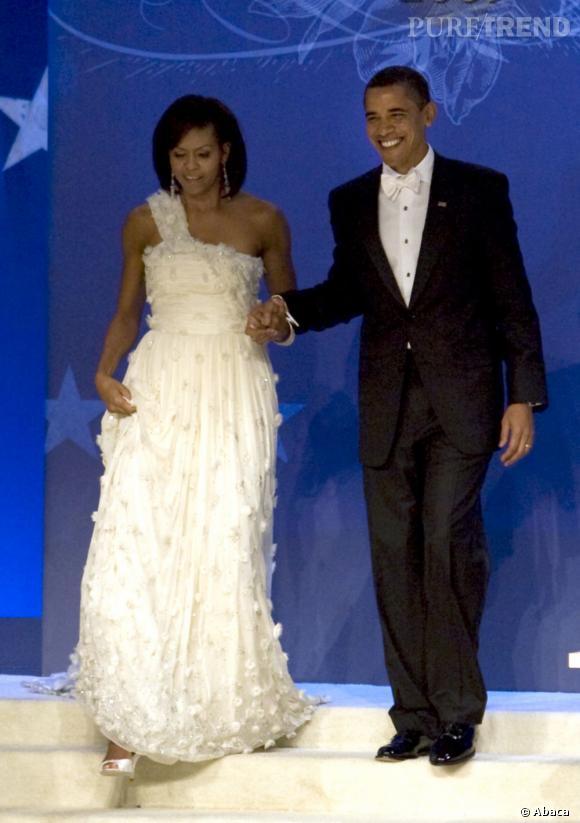 Michelle Obama en Jason Wu : un modèle pour les cérémonies.