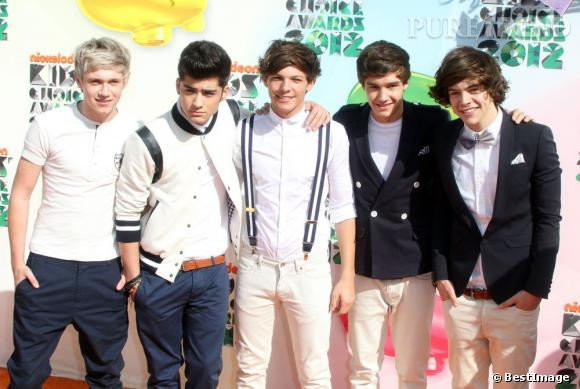Les One Direction aux Kids Choice Awards 2012. Vont-ils gagner le prix du meilleur groupe ou de la meilleure chanson cette année ?