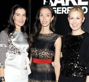 Jennifer Creel, Olivia Chantecaille et Kelly Rutherford à la soirée de lancement de la collection Melissa x Karl Lagerfled.