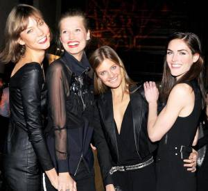 Karlie Kloss, Toni Ward, Constance Jablonski et Hilary Rhoda à la soirée de lancement de la collection Melissa x Karl Lagerfled.
