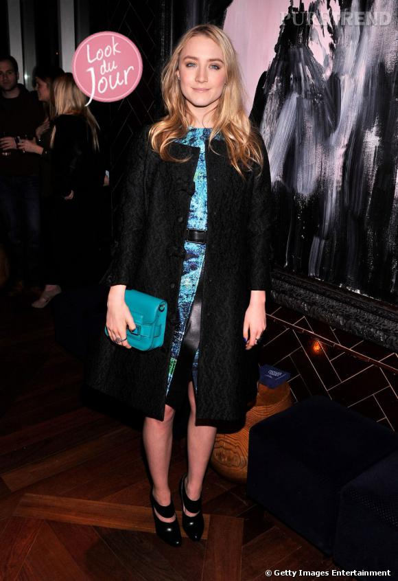 """Saoirse Ronan à la projection du film """"Les âmes vagabondes"""" à New York le 27 mars 2013."""