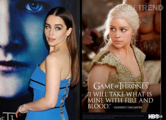 """Si la jolie Daenerys Targaryen nous séduit en blond dans """"Game of Thrones"""", sachez que l'actrice est en fait brune !"""
