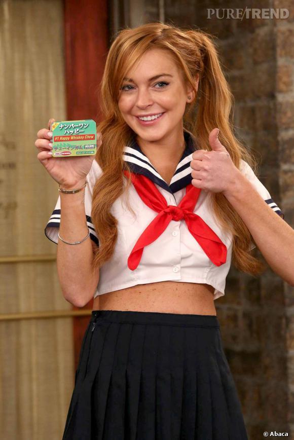 """Lindsay Lohan sur le tournage de la série """"Anger Management"""" de Charlie Sheen."""