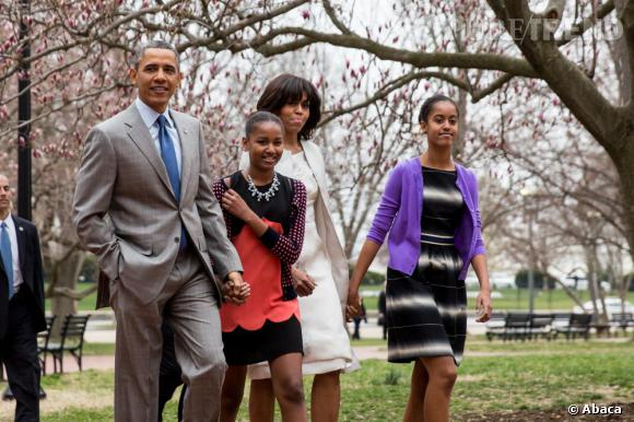 La famille Obama se rend à l'église pour la messe de Pâques.