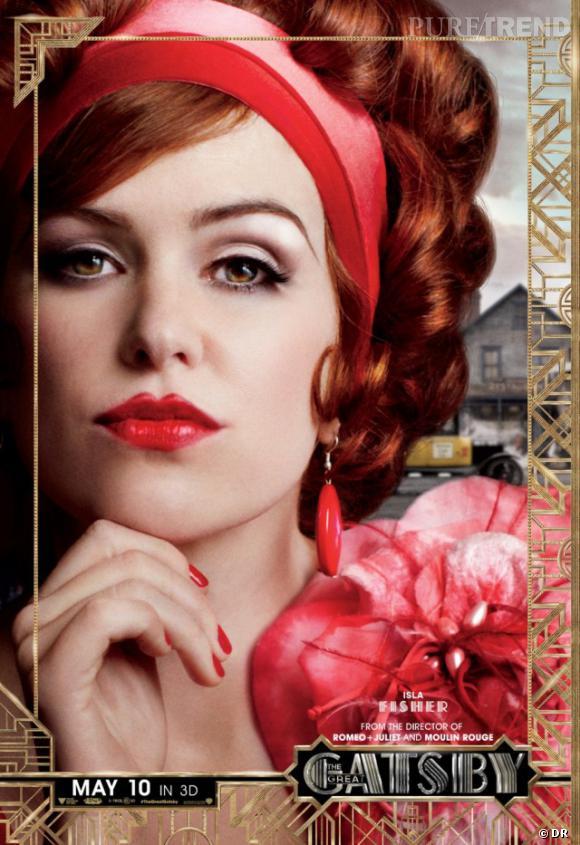 """Isla Fisher joue la séductrice Myrtle Wilson dans """"Gatsby le Magnifique""""."""