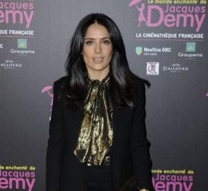 Salma Hayek, craquante golden girl pour l'exposition Jacques Demy