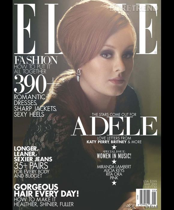 Adele fait la couverture du ELLE US, divine dans une robe en dentelle... Sa coiffure rétro et son smoky eye lui donne une allure de femme fatale.