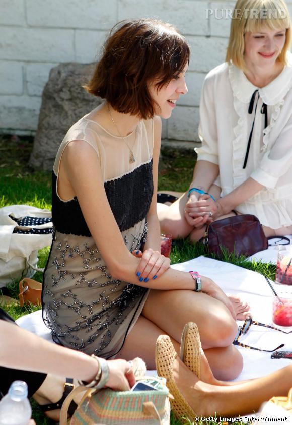 Alexa Chung, preppy et romantique.