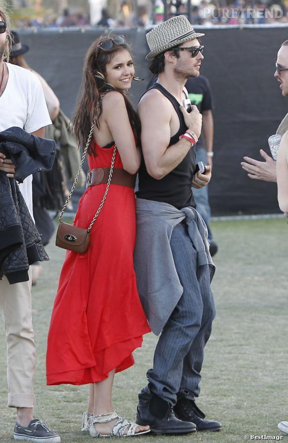 Nina Dobrev au Festival de Coachella.